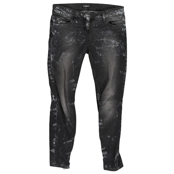 Balmain Black Cotton Jeans