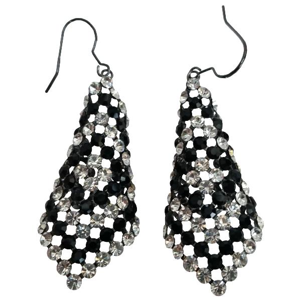 Swarovski Fit Black Crystal Earrings