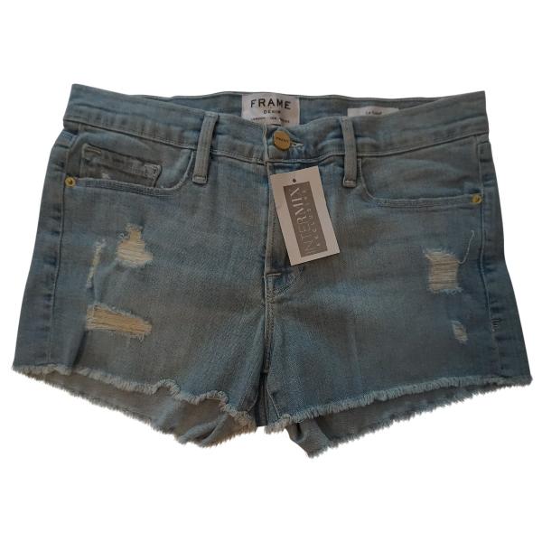 Frame Blue Cotton - Elasthane Shorts