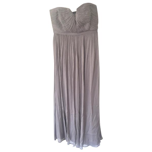 J.crew Grey Silk Dress
