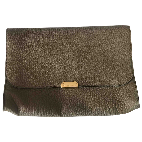 Burberry Beige Leather Clutch Bag