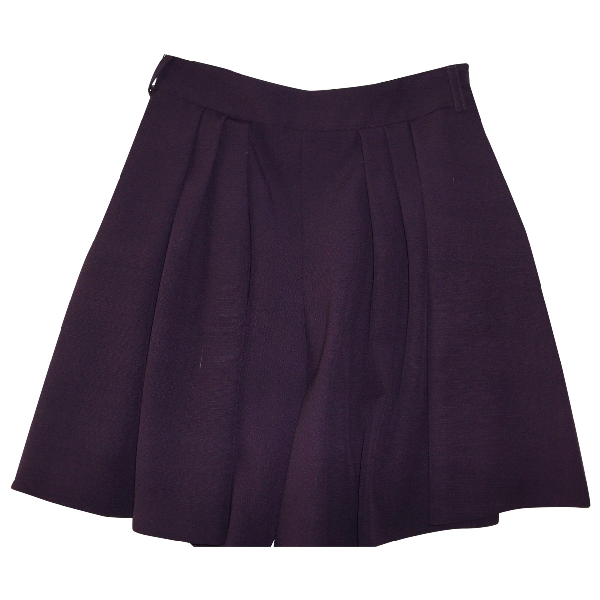 Moschino Purple Wool Skirt