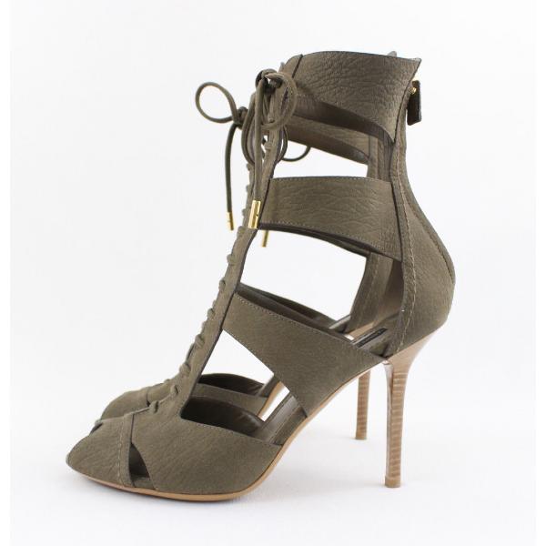 Louis Vuitton Brown Suede Sandals