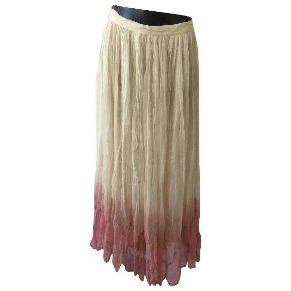 Manoush Multicolour Silk Skirt