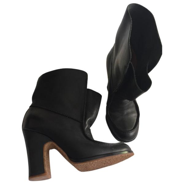 Maison Margiela Black Leather Ankle Boots