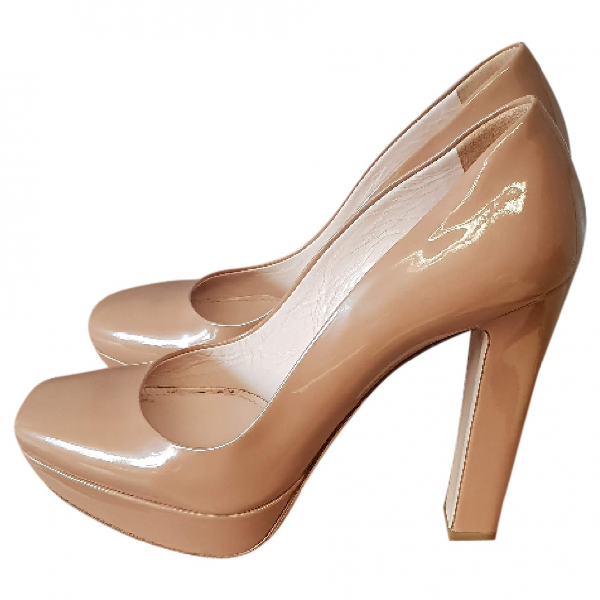 Miu Miu Beige Patent Leather Heels