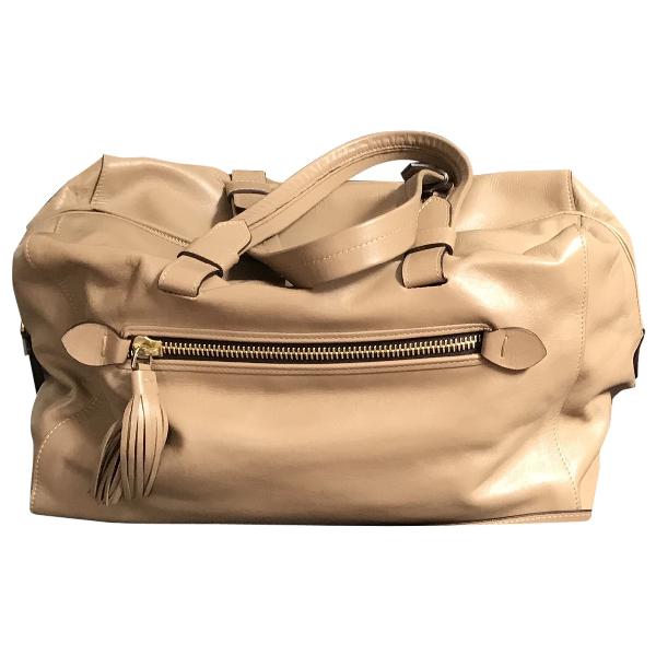 Fratelli Rossetti Beige Leather Handbag