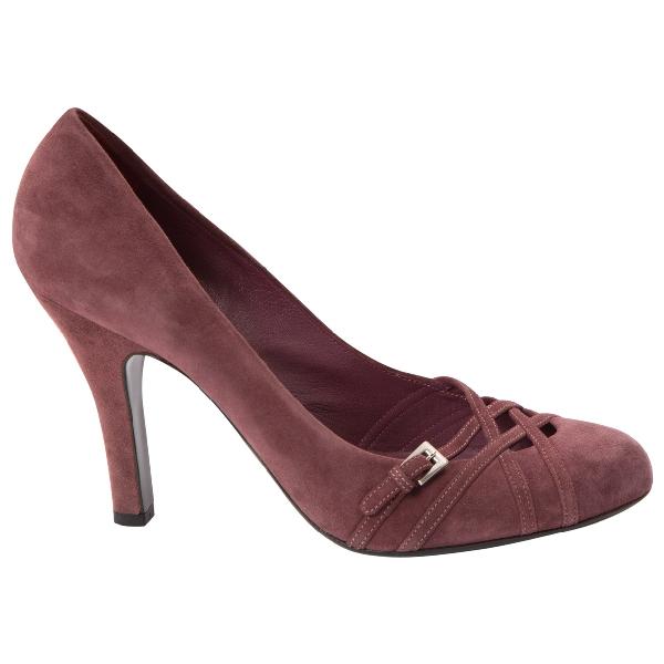 Prada Purple Suede Heels