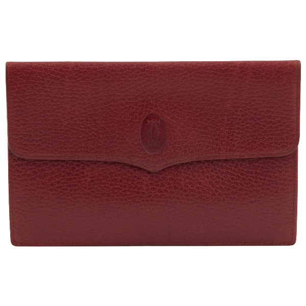 Cartier Red Leather Purses, Wallet & Cases