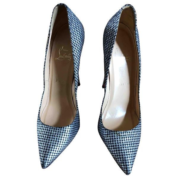 Christian Louboutin Pigalle Silver Glitter Heels