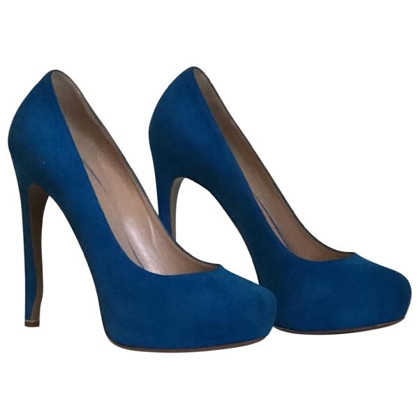 Nicholas Kirkwood Blue Suede Heels