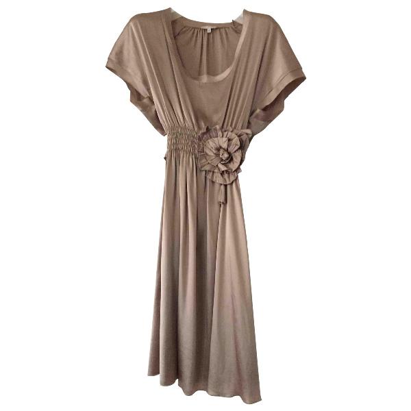 Parosh Gold Silk Dress