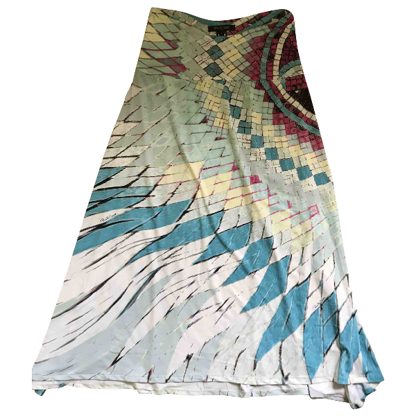 Roberto Cavalli Multicolour Cotton Dress