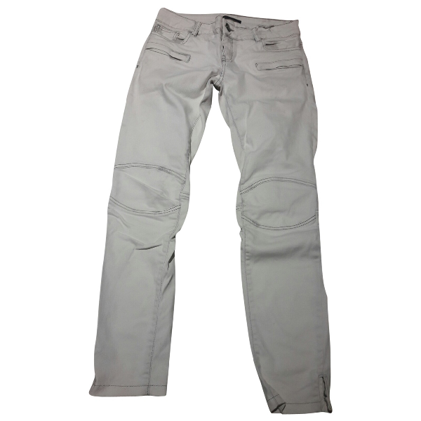 Maje White Cotton - Elasthane Jeans