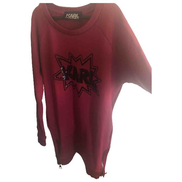 Karl Pink Cotton Knitwear