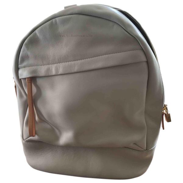 Want Les Essentiels De La Vie Ecru Leather Backpack