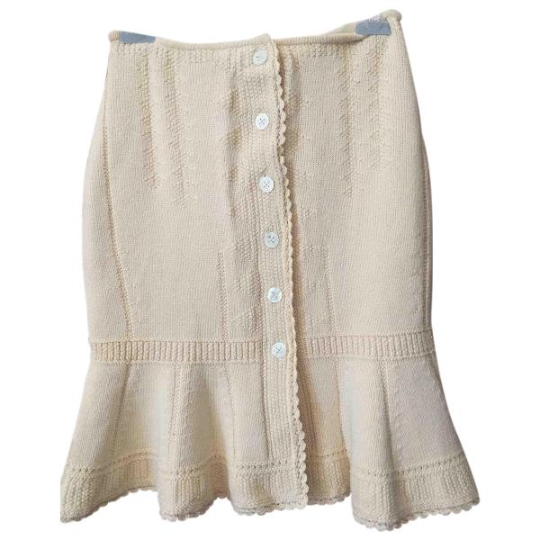 Salvatore Ferragamo Beige Cotton Skirt