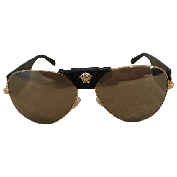 Versace Black Metal Sunglasses