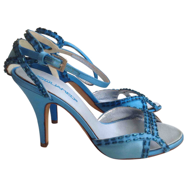 Dsquared2 Blue Leather Sandals