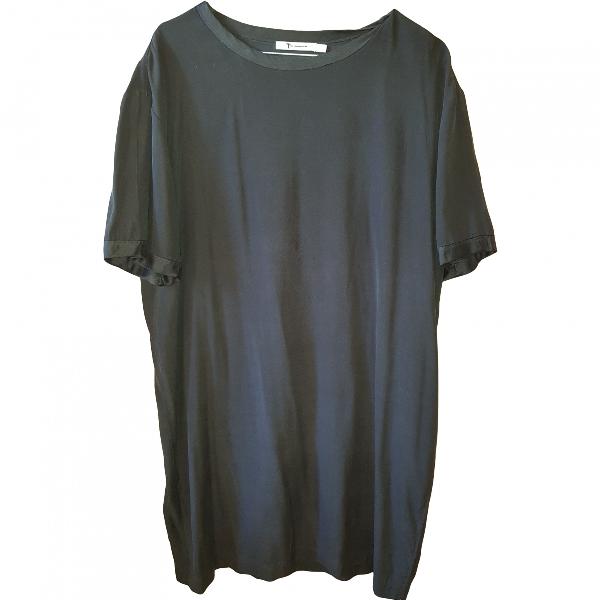 Alexander Wang T Black Silk Dress