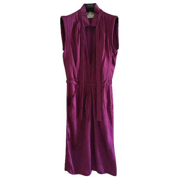 Valentino Burgundy Silk Dress