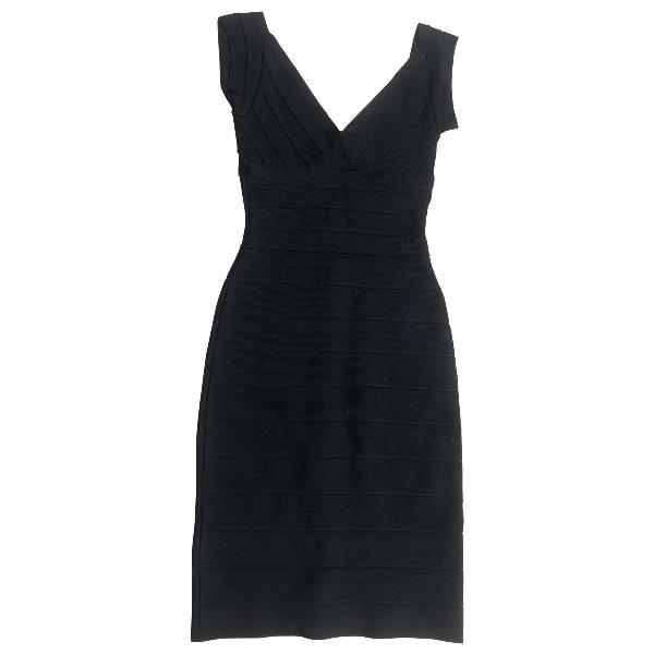 Herve Leger Black Dress