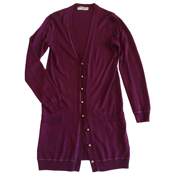 Valentino Burgundy Cashmere Knitwear