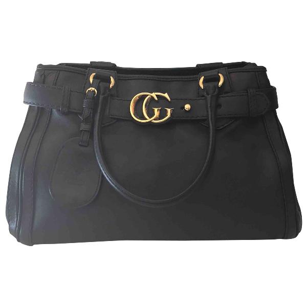 Gucci Gg Running Black Leather Handbag