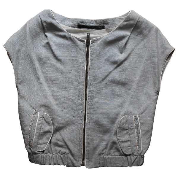 Maurizio Pecoraro Turquoise Cotton Jacket