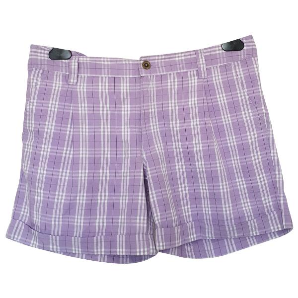Champion Purple Cotton Shorts