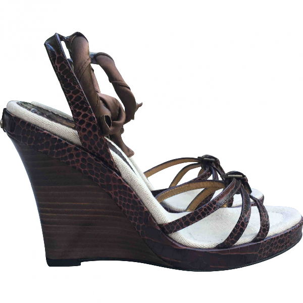Barbara Bui Brown Leather Sandals