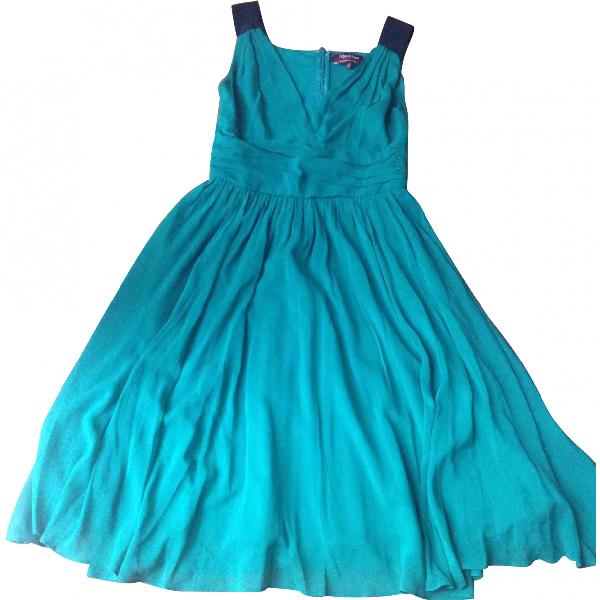 Max Mara Green Silk Dress