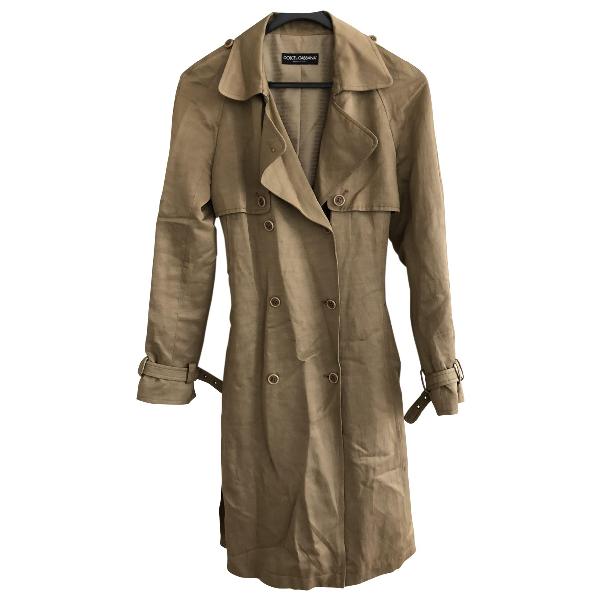 Dolce & Gabbana Beige Cotton Trench Coat