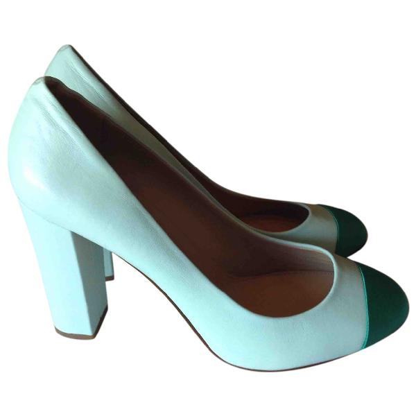 J.crew Turquoise Leather Heels