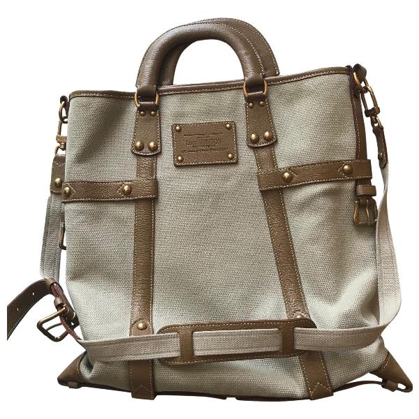 Louis Vuitton Ecru Leather Handbag