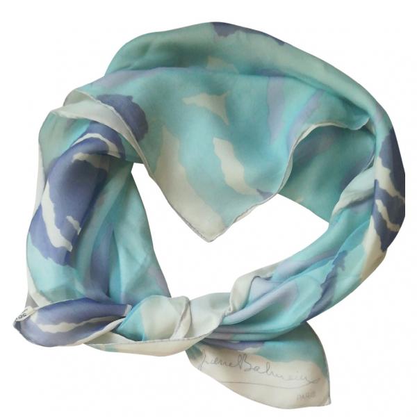 Balmain Turquoise Cotton Scarf