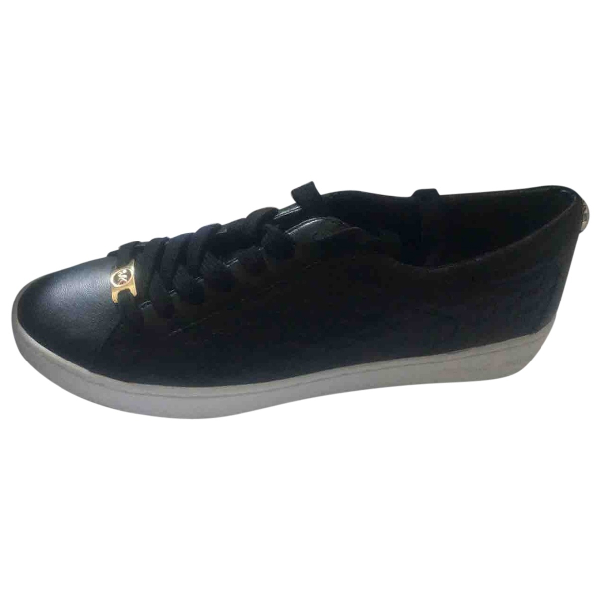 Michael Kors Black Leather Trainers