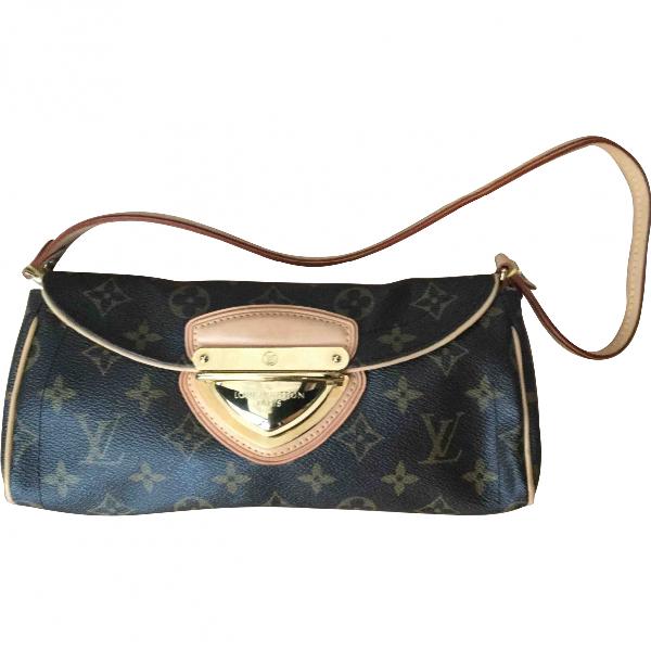 Louis Vuitton Manhattan Brown Cloth Clutch Bag