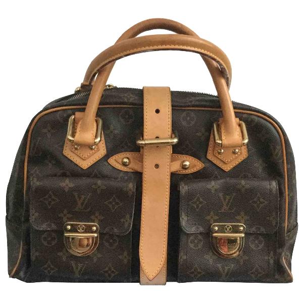 Louis Vuitton Manhattan Brown Cloth Handbag