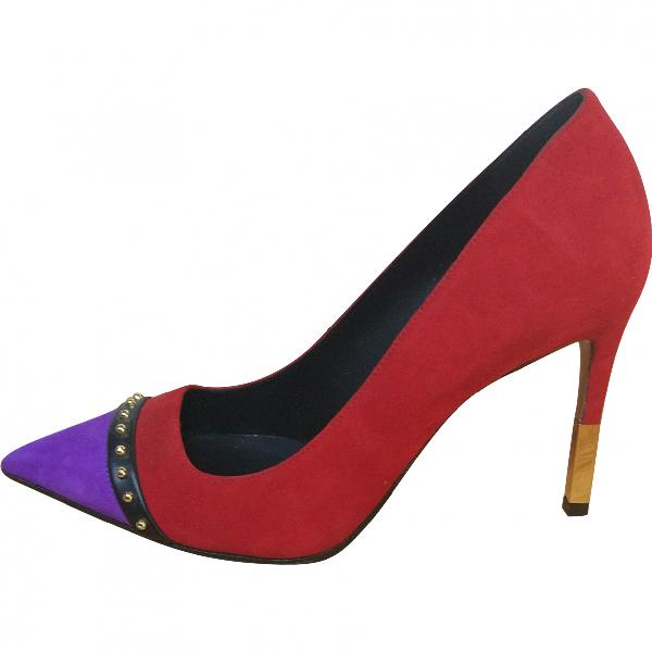 Balmain Red Suede Heels