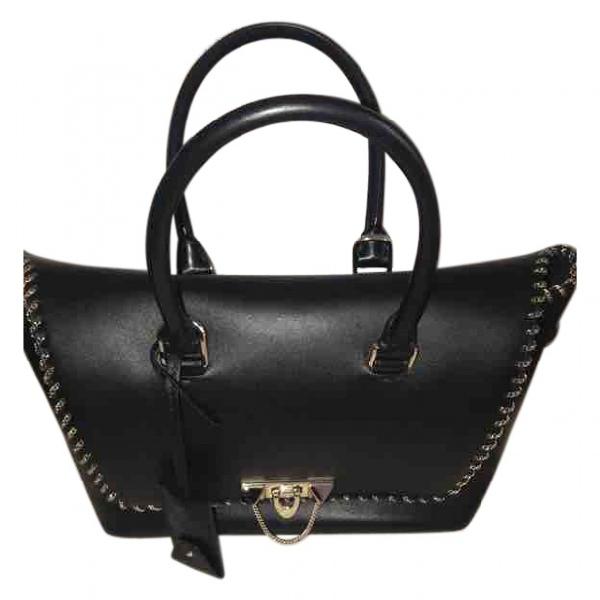 Valentino Garavani Demilune Black Leather Handbag