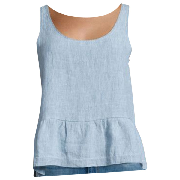 J Brand Blue Linen  Top