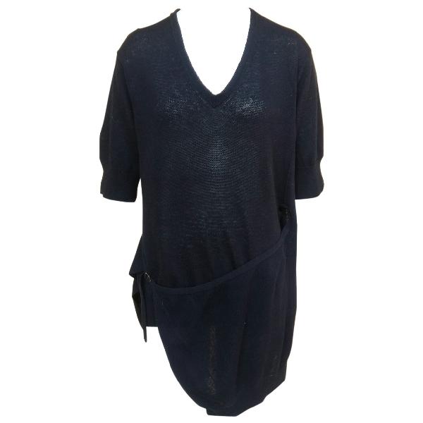 Yohji Yamamoto Black Cotton Knitwear