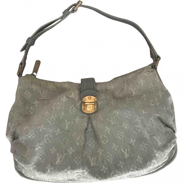 Louis Vuitton Blue Cotton Handbag