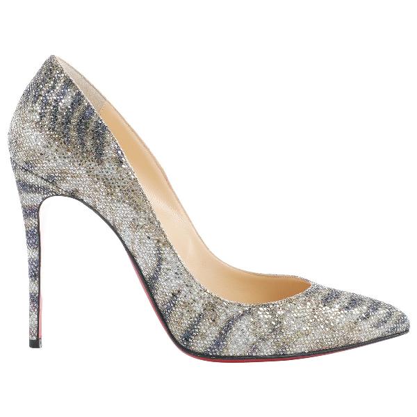 Christian Louboutin So Kate  Gold Glitter Heels