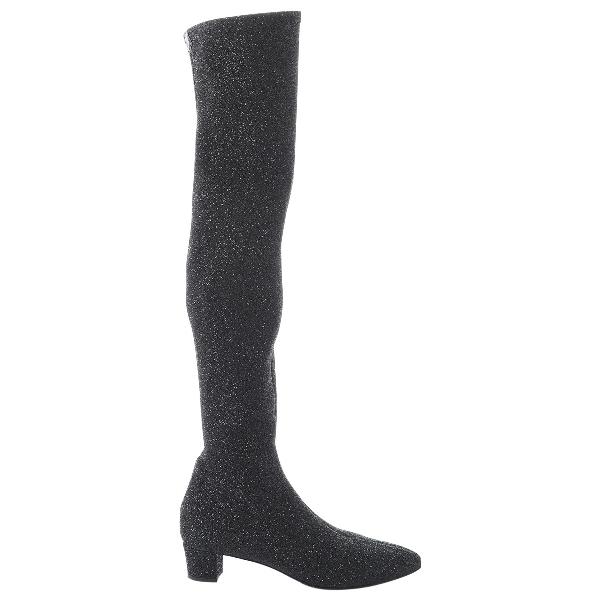 Giuseppe Zanotti Black Cloth Boots