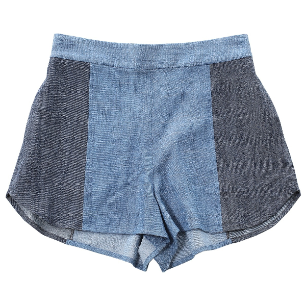 Alice And Olivia Blue Denim - Jeans Shorts