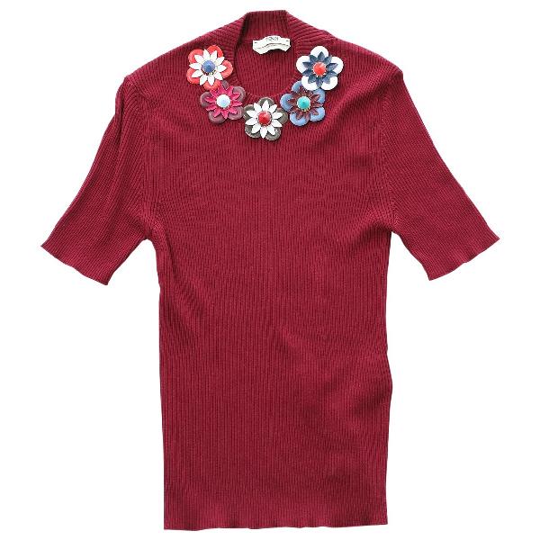 Fendi Burgundy Cotton Knitwear