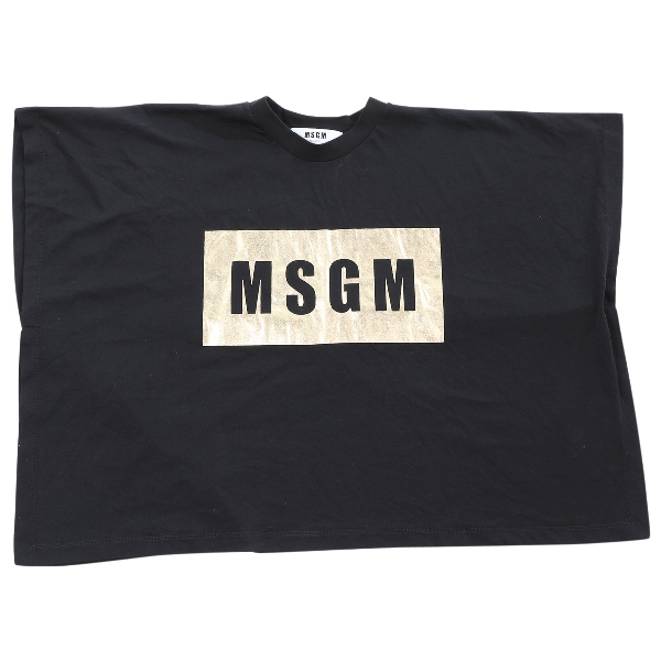 Msgm Black Cotton  Top