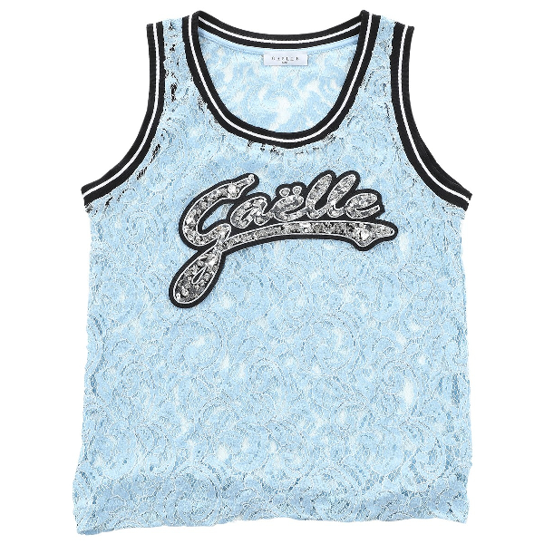 Gaelle Paris Blue Cotton  Top